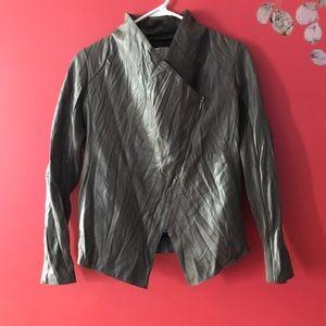 BB Dakota   Johanna vegan drape leather jacket EUC
